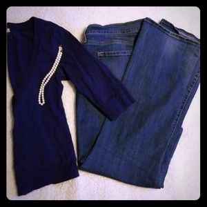 Large navy blue button-up